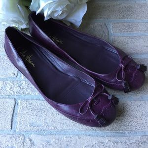 Cole Haan plum leather tassel flats Nike Air